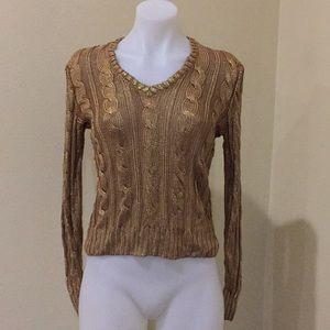 Lauren by Ralph Lauren gold vintage sweater